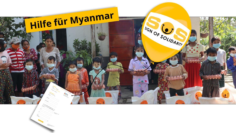 Jetzt rasch helfen, Das SONNE-Team in Myanmar ist vor Ort