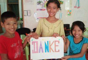 Kinder sagen Danke
