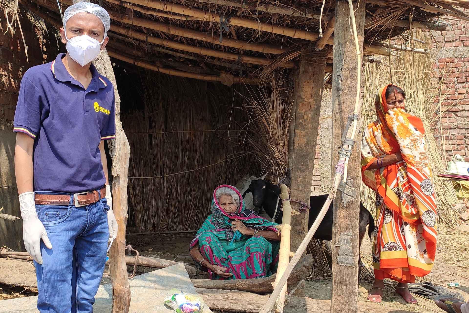 Coronahilfe Jetzt, in Indien im Einsatz